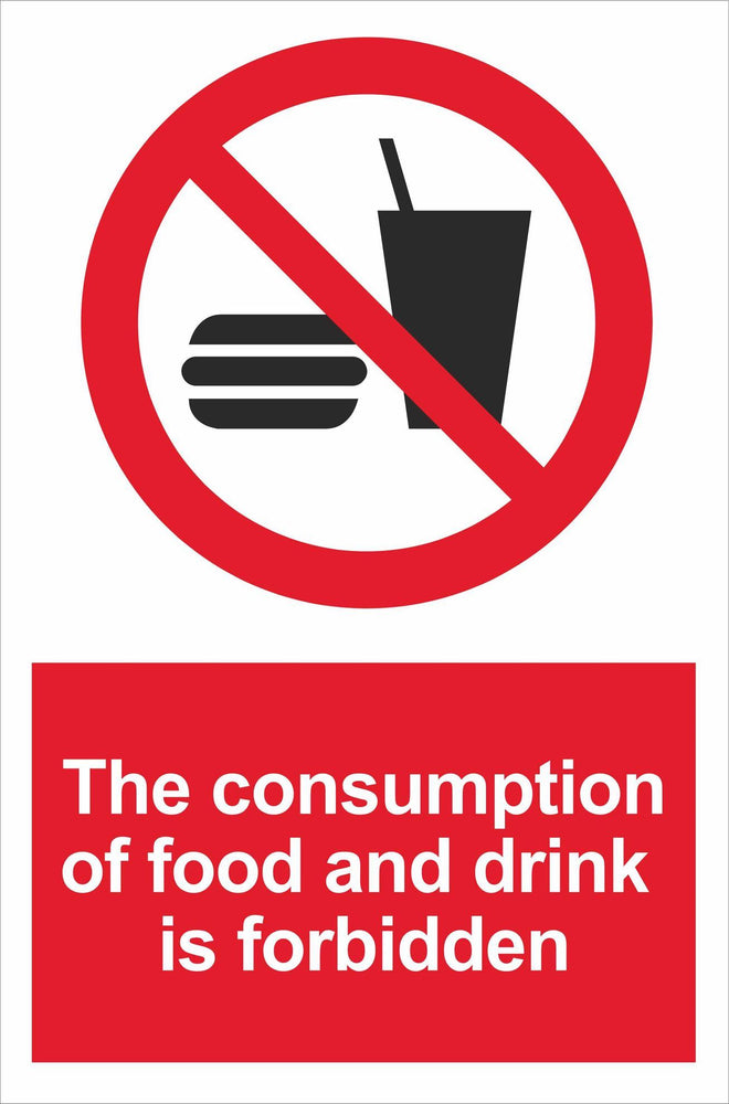 The consumption of food and drink is forbidden