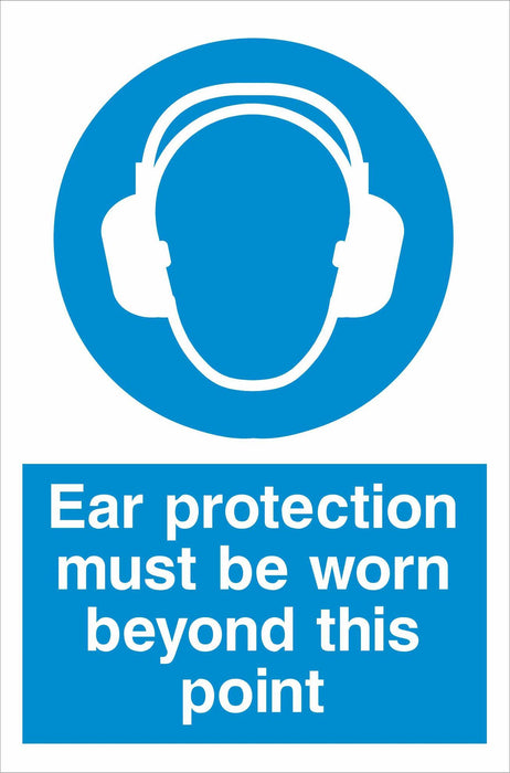Ear protection must be worn beyond this point