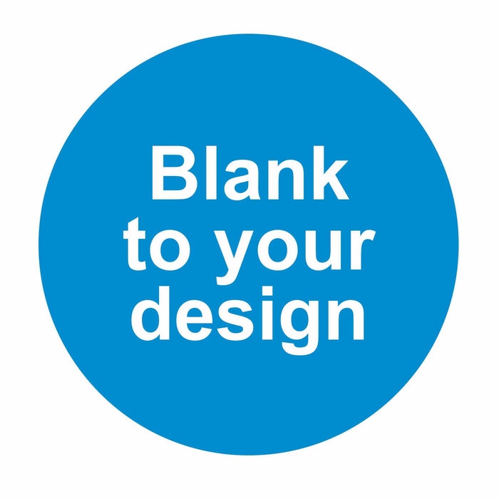 BLANK - TO YOUR DESIGN - SELF ADHESIVE STICKER