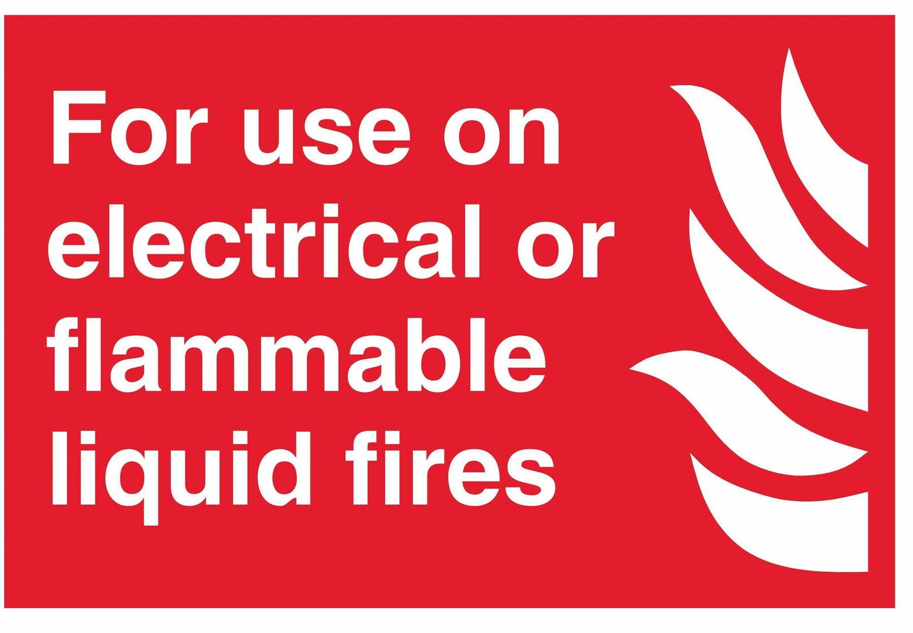 For use on electrical or flammable liquid fires