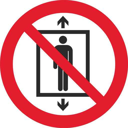 Do not use this lift for people - Symbol sticker sheet