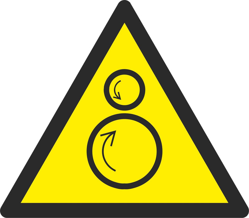 Warning Counterrotating rollers - Symbol sticker sheet
