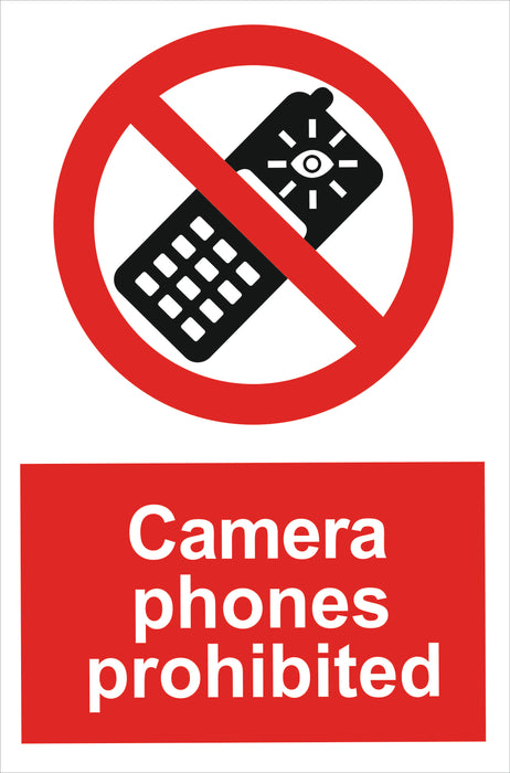 Camera phones prohibited