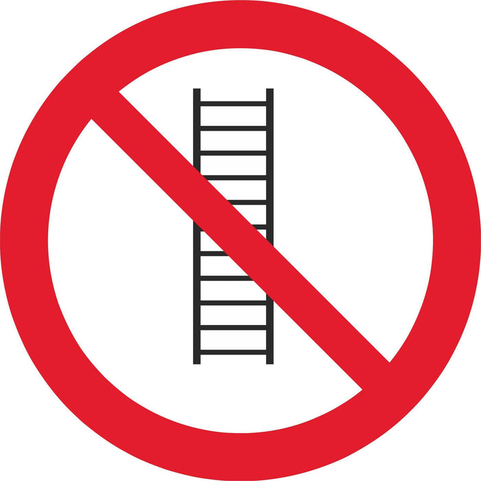 Do not use ladders - Symbol sticker sheet