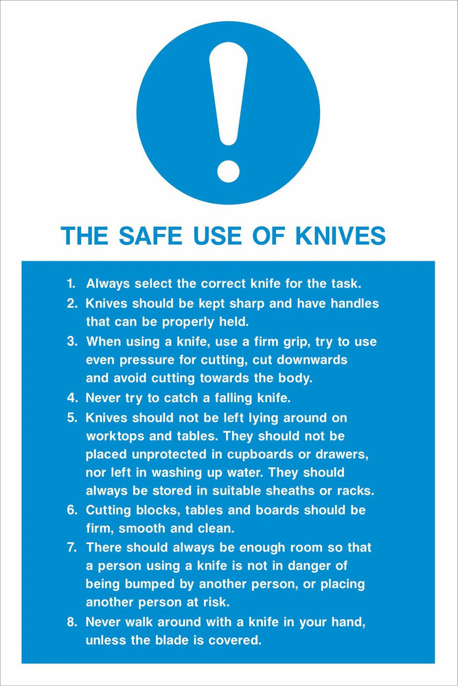 THE SAFE USE OF KNIVES