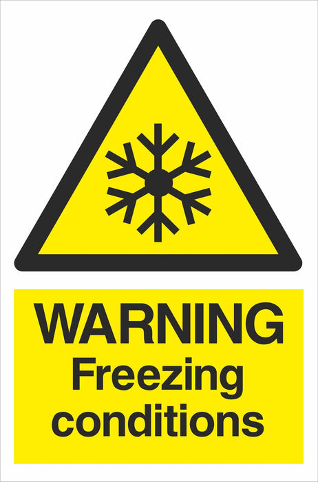 WARNING Freezing conditions