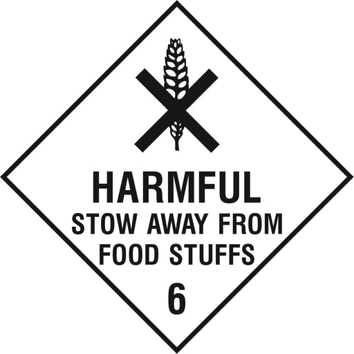 Hazardous Diamond - HARMFUL STOW AWAY FROM FOOD STUFFS 6