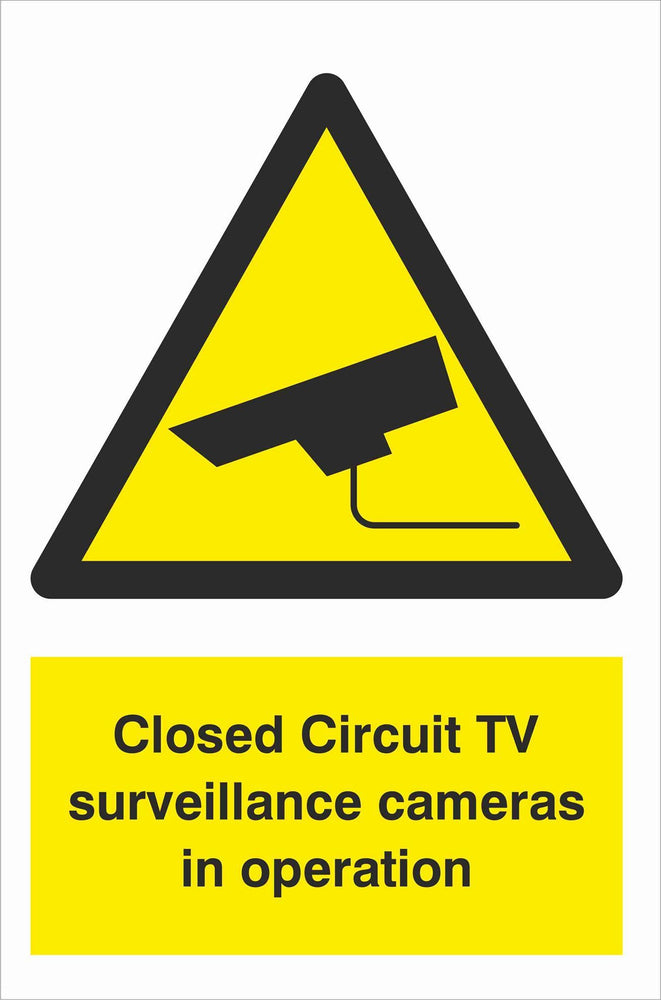 Security - CCTV  Sign - Closed Circuit TV surveillance cameras in operation
