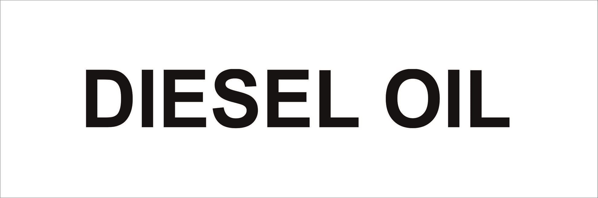 Pipeline Marking Label - DIESEL OIL