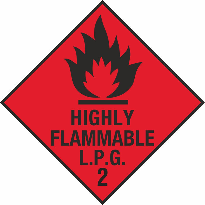 Hazardous Diamond - Highly Flammable LPG 2
