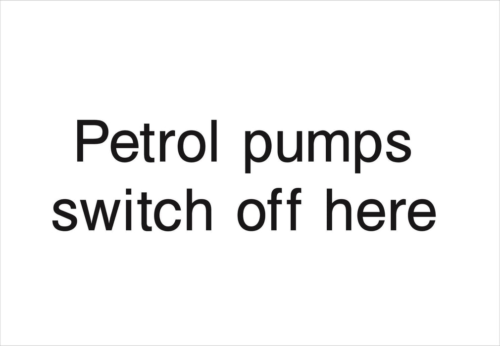 Petrol pumps switch off here