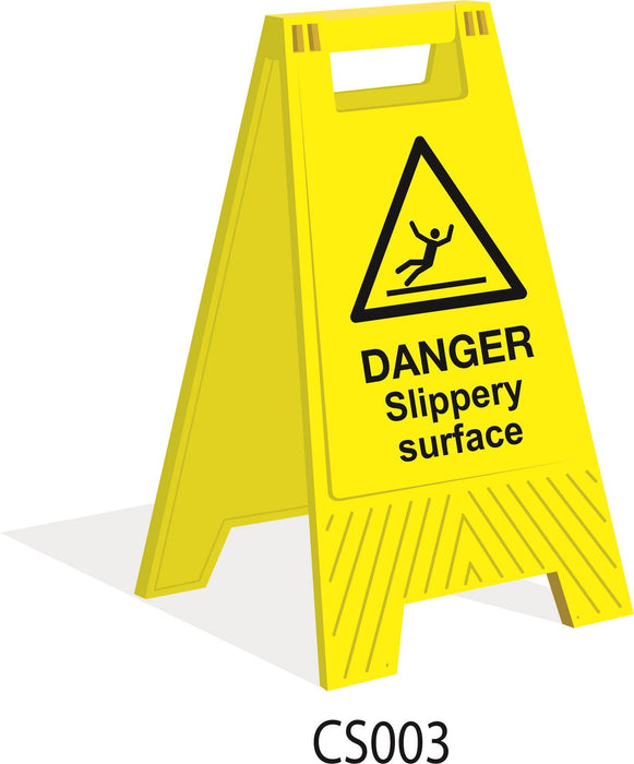 Floor Stand - Danger Slippery Surface
