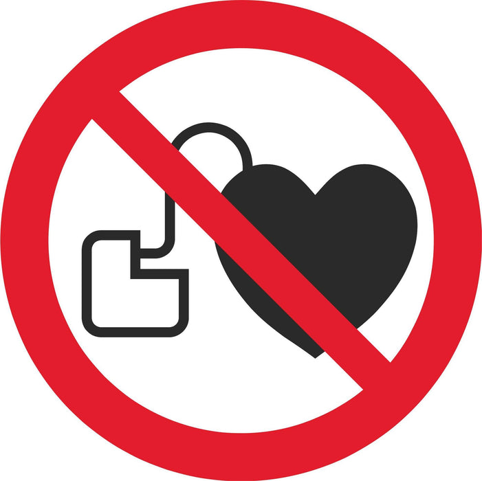 No access for people with active implanted cardiac devices - Symbol sticker sheet