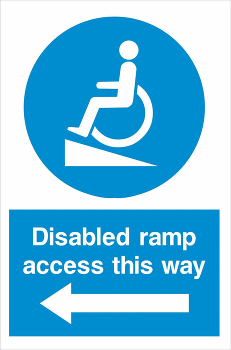 Disabled ramp access this way
