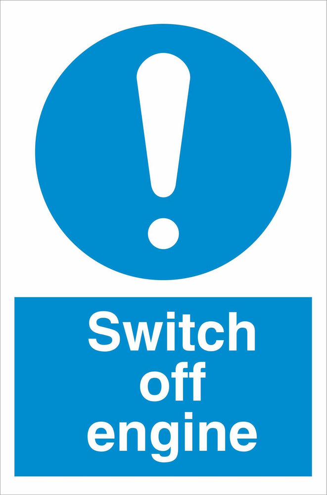 Switch off engine