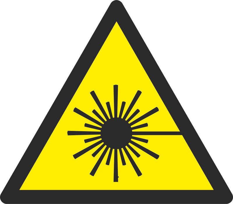 Warning Laser beam - Symbol sticker sheet