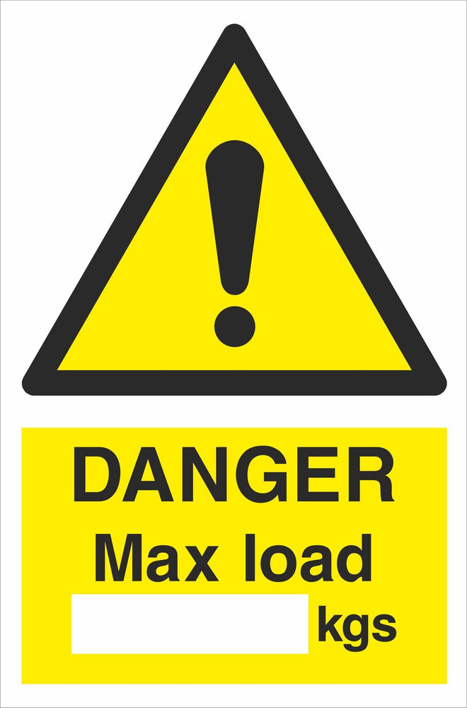 DANGER Max load