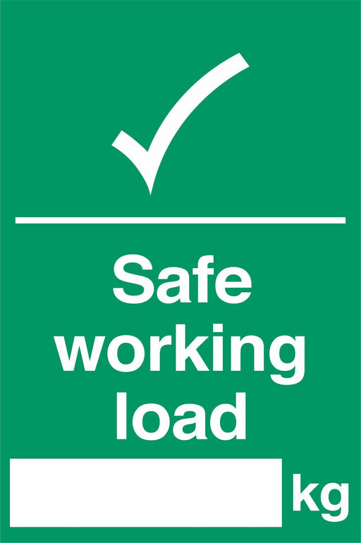 Safe working load ….kg