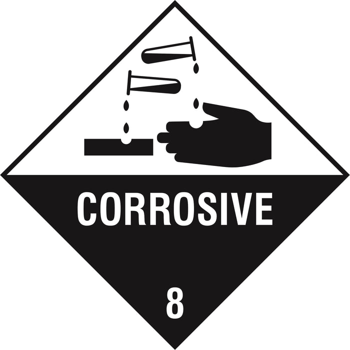 Hazardous Diamond - CORROSIVE 8