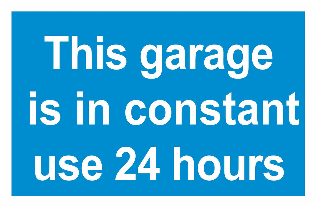 This garage is in constant use 24 hours