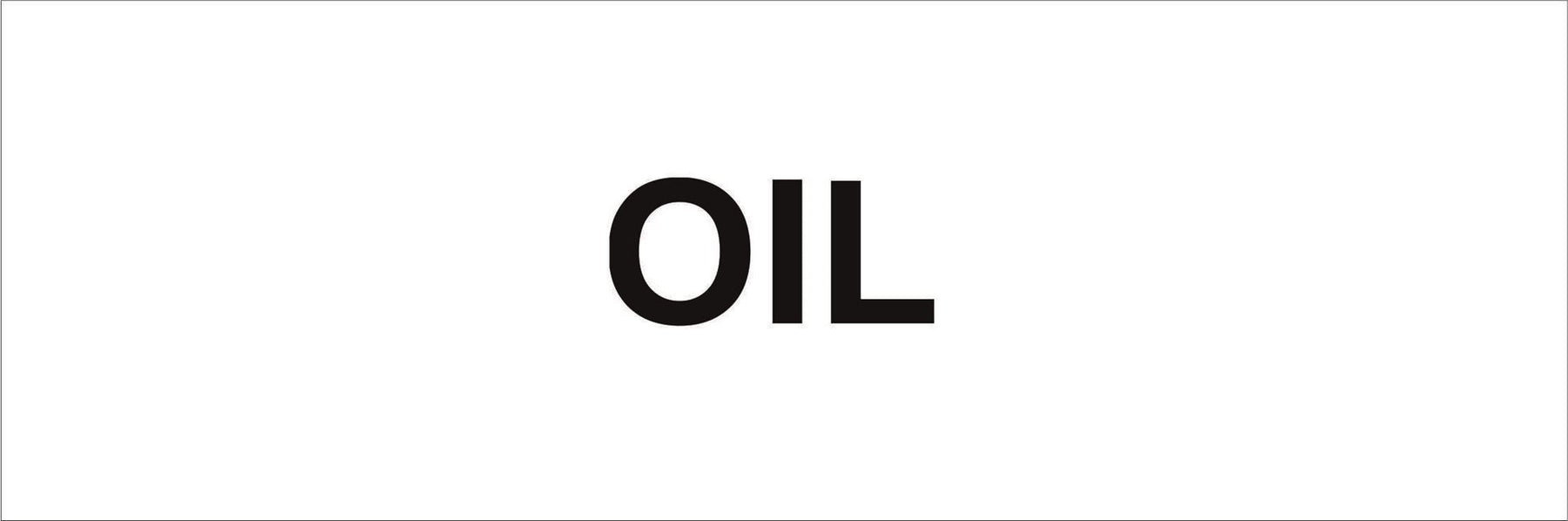 Pipeline Marking Label - OIL