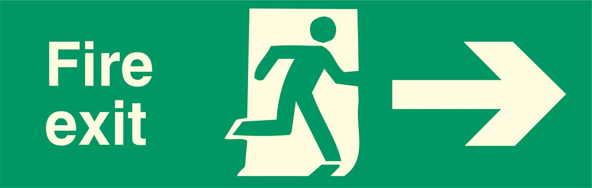 Fire exit - Running Man Right - Right Arrow