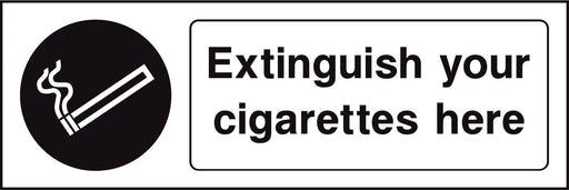 Extinguish your cigarettes here