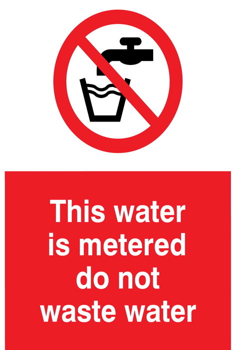 This water is metered do not waste water