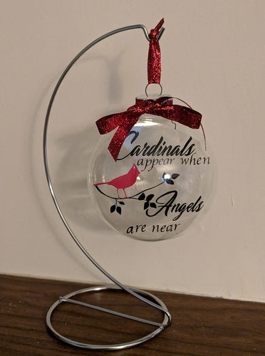 Cardinal Angels Christmas Ornament 3.94
