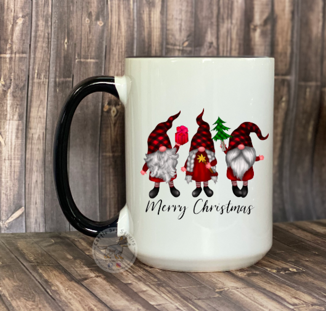 Merry Christmas Gnome Coffee Tea Mug 15oz