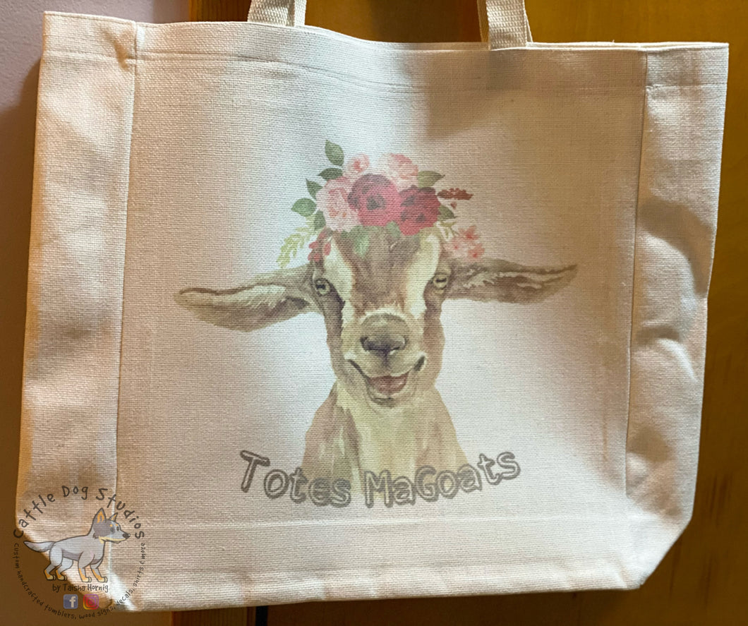 Totes MaGoats Large Linen Tote Bag