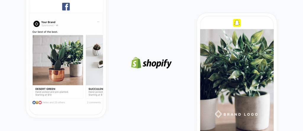 Facebook Dynamic Ads & Snapchat Ads right from your Marketing tab in Shopify!