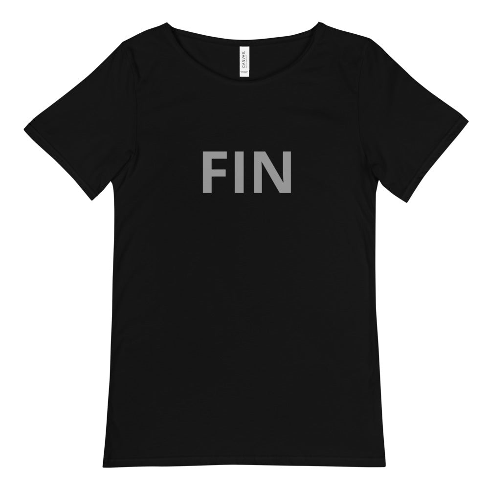 Macabre...ish FIN Men's Raw Neck Tee