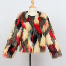 Red Pattern Fur Coat