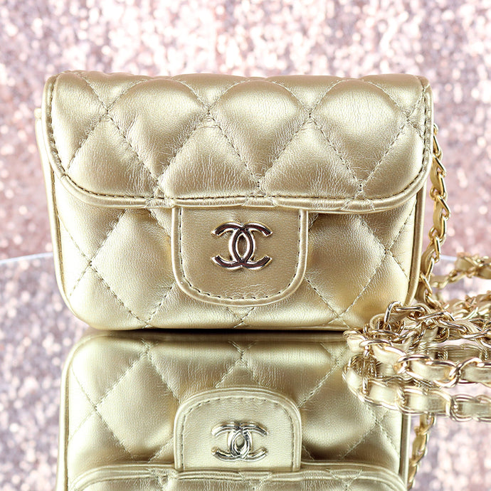 Gold Quilted Purse