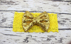 Lace Gold Bow