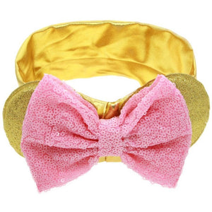Gold and Pink Bow