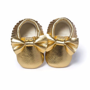 Gold Metallic Mocs