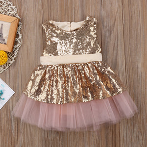 Heart Backless Glitter Dress