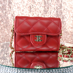 Red Quilted Purse