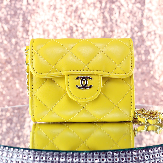 Yellow Quilted Purse