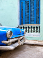Blue car blue window