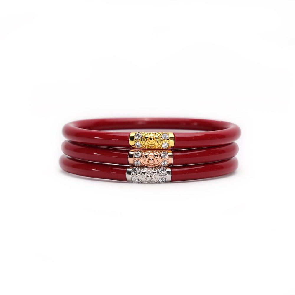 Red Three Kings BuDhaGirl Bangles