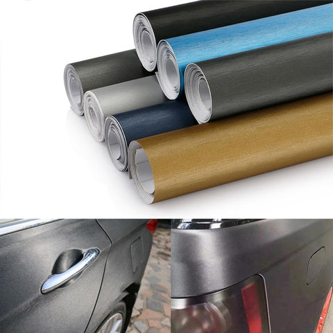 Film vinyle aluminium mat - 50cm x 200cm - 6 couleurs - Covering Shop