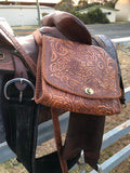 Western Rose Leather Handbag