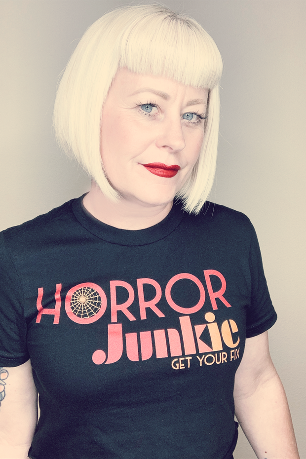 Horror Junkie Logo Women's Crop Top