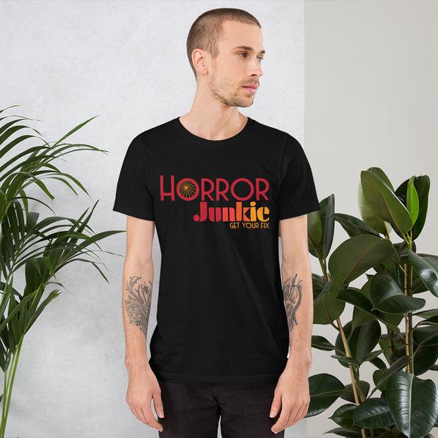 """Horror Junkie"" Logo Short-Sleeve Unisex T-Shirt"
