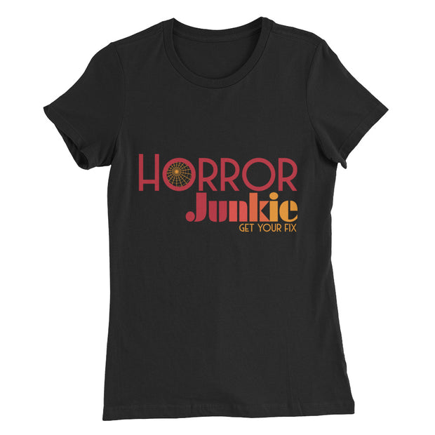 """Horror Junkie"" Logo Women's Slim Fit T-Shirt"