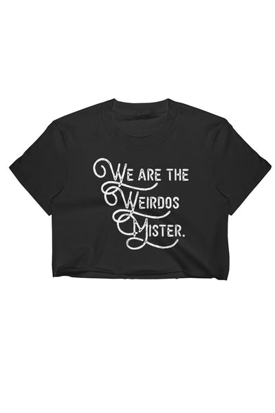 """We Are The Weirdos Mister"" Logo Crop Top Black"