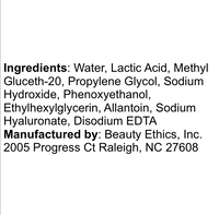 Beauty Ethics Smoothing Solution ingredients